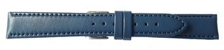 Watch Strap Genuine Calf Navy Blue 20mm