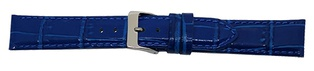 Watch Strap Alligator print Elec Blue 20mm