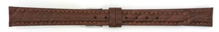Watch Strap Genuine Calf Dark Brown 12mm