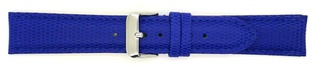 Watch Strap Lizard print Elec Blue 16mm