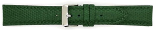 Watch Strap Lizard print Dark Green 20mm