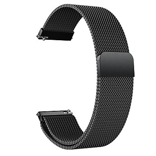 Watch Strap Steel Black 20mm