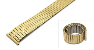 Watch Strap Steel Gold 18mm