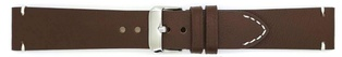 Watch Strap Genuine Calf Dark Brown 18mm