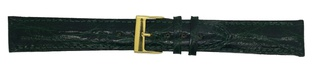 Watch Strap Gen. Crocodile Dark Green 20mm